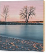Cherry Creek First Light Wood Print
