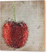 Cherry Fizz Wood Print