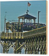 Cherry Grove Pier - Closeup End Of Pier Wood Print