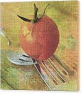 Cherry On Top Wood Print