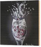 Cherry Splash Wood Print