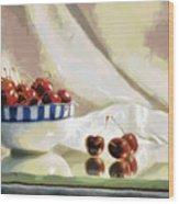 Cherry Still Life Wood Print