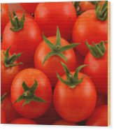 Cherry Tomatoes Fine Art Food Photography Wood Print
