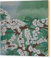 Cherry Tree Rich In Flowers Wood Print