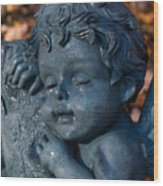 Cherub Sleeping Wood Print