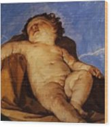 Cherub Sleeps 1627 Wood Print