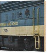 Chesapeake And Ohio Boxcar  Wood Print