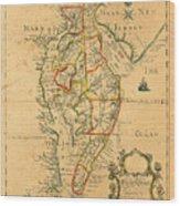 Chesapeake Bay 1786 Wood Print