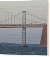 Chesapeake Bay Bridge - Maryland Wood Print by Brendan Reals