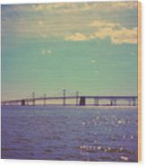 Chesapeake Bay Bridge Wood Print