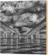 Chesapeake Bay Bw Wood Print