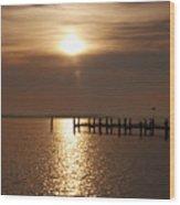 Chesapeake Morning Wood Print