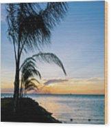 Chesapeake Sunset - Full Color Wood Print