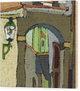 Chesky Krumlov Old Street Latran  Wood Print