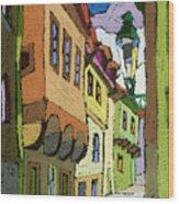 Chesky Krumlov Street Nove Mesto Wood Print