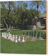 Chess At The Biltmore Wood Print