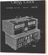Chess Clock Patent Wood Print
