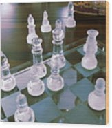 Chess Is Not For Sissies Wood Print by Anne-Elizabeth Whiteway