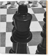 Chess Pano Wood Print