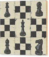 Chess Pieces Wood Print by Debbie DeWitt