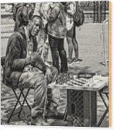 Chess Player Wood Print