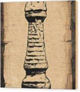 Chess Rook Wood Print by Tom Mc Nemar