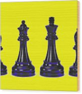 Chessmen Wood Print