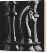 Chessmen II Wood Print by Tom Mc Nemar