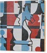 Chessmen Wood Print