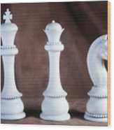 Chessmen V Wood Print