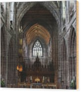 Chester Cathedral England Uk Inside The Nave Wood Print