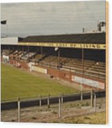 Chester - Sealand Road - Main Stand 1 - 1969 Wood Print