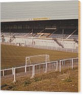 Chester - Sealand Road - Main Stand 2 - 1979 Wood Print