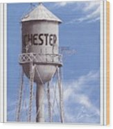 Chester Water Tower Poster Wood Print