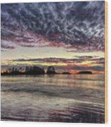 Chesterman Beach Sunset Wood Print