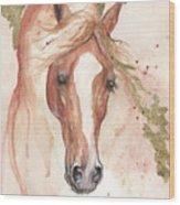 Chestnut Arabian Horse 2016 08 02 Wood Print