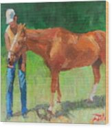 Chestnut The Horse Wood Print