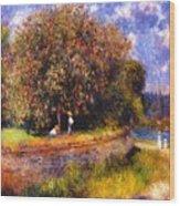 Chestnut Tree Blooming 1881 Wood Print