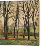Chestnut Trees At The Jas De Bouffan Wood Print by Paul Cezanne