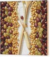 Chestnuts Grapes Wallnuts Wood Print