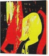Cheval Du Cirque De Monaco Wood Print
