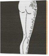 Cheveux Roux Et Rose Wood Print