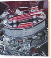 Chevrolet Bel-air Matchbox Car Wood Print