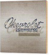 Chevrolet Camaro Badge Wood Print