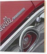 Chevrolet Chevelle Ss Taillight Emblem 2 Wood Print