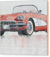 Chevrolet Corvette C1 1960  Wood Print