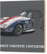 Chevrolet Corvette Convertible L88 1968,original Fast Race Car Wood Print