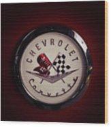 Chevrolet Corvette, Corvette Logo Wood Print