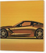 Chevrolet Corvette Stingray 2013 Painting Wood Print