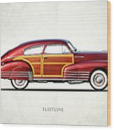 Chevrolet Fleetline 1948 Wood Print